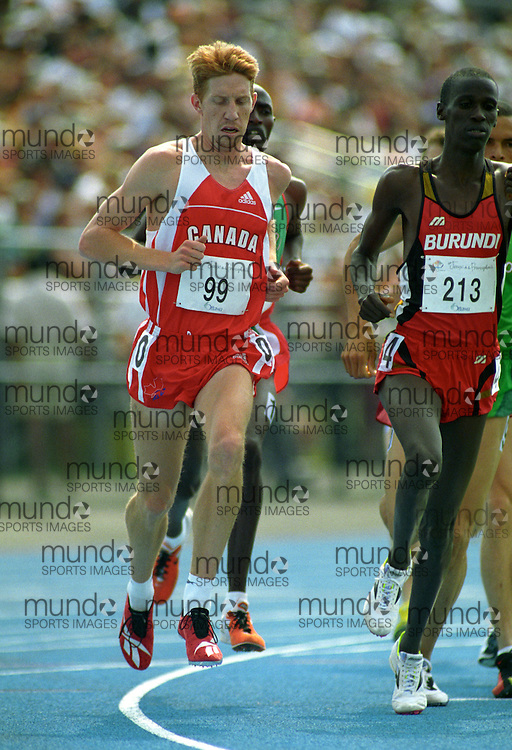 (Ottawa, Ontario---21 July 2001)  Kevin Sullivan competing in the 1500m final at the 2001 Jeux de la Francophonie (Francophone Games). Copyright Sean Burges / Mundo Sport Images, 2001
