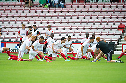 Bristol City warm up - Photo mandatory by-line: Dougie Allward/JMP - Tel: Mobile: 07966 386802 27/03/2013 - SPORT - FOOTBALL - Goldsands Stadium - Bournemouth -  Bournemouth V Bristol City - Pre Season friendly