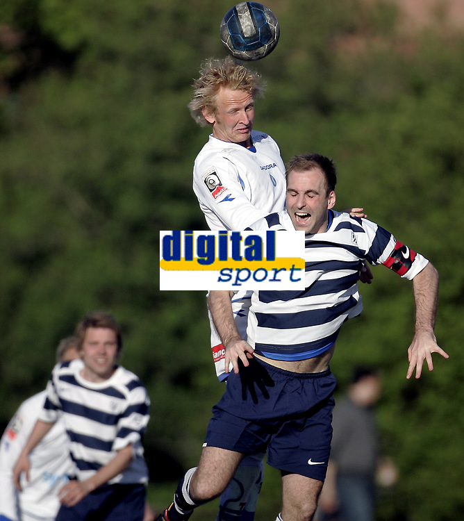 Fotball<br /> NM Cup<br /> 12.05.08<br /> T&oslash;rteberg<br /> Frigg - Notodden<br /> Christer Fjellstad - Kenneth T&oslash;nne - Hodeduell<br /> Foto - Kasper Wikestad