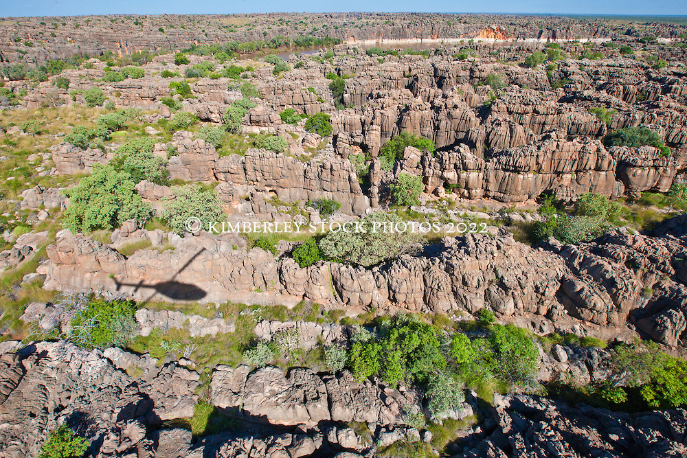 Looking over the devonian reef to Geikie Gorge near Fitzroy Crossing.