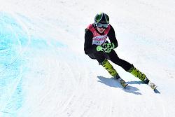 BUGAEV Aleksei LW6/8-2 NPA competing in ParaSkiAlpin, Para Alpine Skiing, Super G at PyeongChang2018 Winter Paralympic Games, South Korea.
