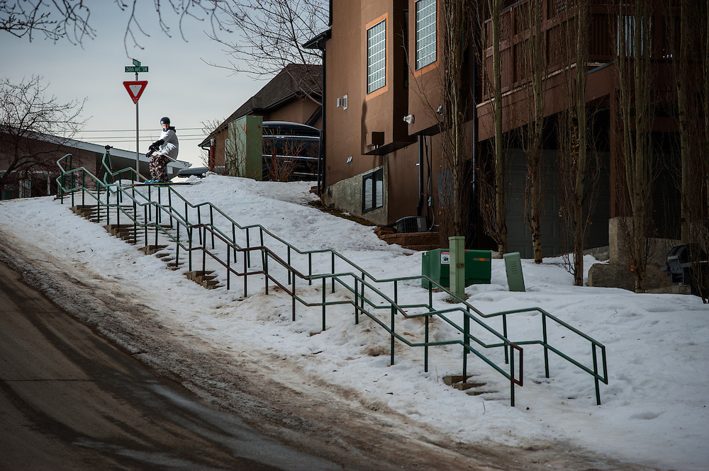 it took mark two days and 80 tries to nail this 13 kink rail in Calgary, AB. It was anything but straight.