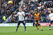 Preston North End Defender Tom Clarke clears during the Sky Bet Championship match between Preston North End and Hull City at Deepdale, Preston, England on 28 December 2015. Photo by Pete Burns.