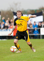 Annan Athletic's Chris Jardine..Annan Athletic 0 v 3 Falkirk. Semi Final of the Ramsdens Cup, 9/10/2011..Pic © Michael Schofield.