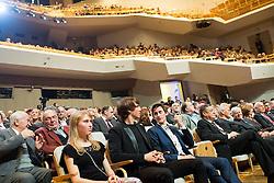 Marusa Mismas, Zan Kosir and Peter Prevc at Slovenian Sports personality of the year 2014 annual awards presented on the base of Slovenian sports reporters, on December 9, 2014 in Cankarjev dom, Ljubljana, Slovenia. Photo by Vid Ponikvar / Sportida