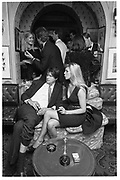 The Marquess of Worcester & Lady Liza Campbell. Valentino party. Annabel's. 15/9/87. Film 87766f12<br /> © Copyright Photograph by Dafydd Jones<br /> 66 Stockwell Park Rd. London SW9 0DA<br /> Tel 0171 733 0108 www.dafjones.com