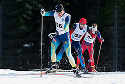 REPTYUKH Ihor, MINNEGULOV Rushan, OLSRUD Hakon, UKR, RUS, NOR, Long Distance Cross Country, 2015 IPC Nordic and Biathlon World Cup Finals, Surnadal, Norway