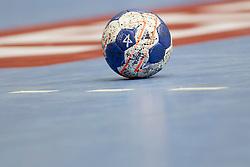 Ball during handball match between RK Celje Pivovarna Lasko (SLO) vs Rhein-Neckar Lowen (GER) in 3rd Round of Group A of EHF Champions League 2013/14 on October 12, 2013 in Arena Zlatorog, Celje, Slovenia. (Photo By Urban Urbanc / Sportida)