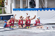 Henley on Thames, England, United Kingdom 7th July 2019, Henley Royal Regatta Prince  Albert Challenge  Cup, Harvard University USA winning the Sunday Final, Henley Reach, [© Peter SPURRIER/Intersport Image]<br /> <br /> 11:47:56 1919 - 2019, Royal Henley Peace Regatta Centenary,
