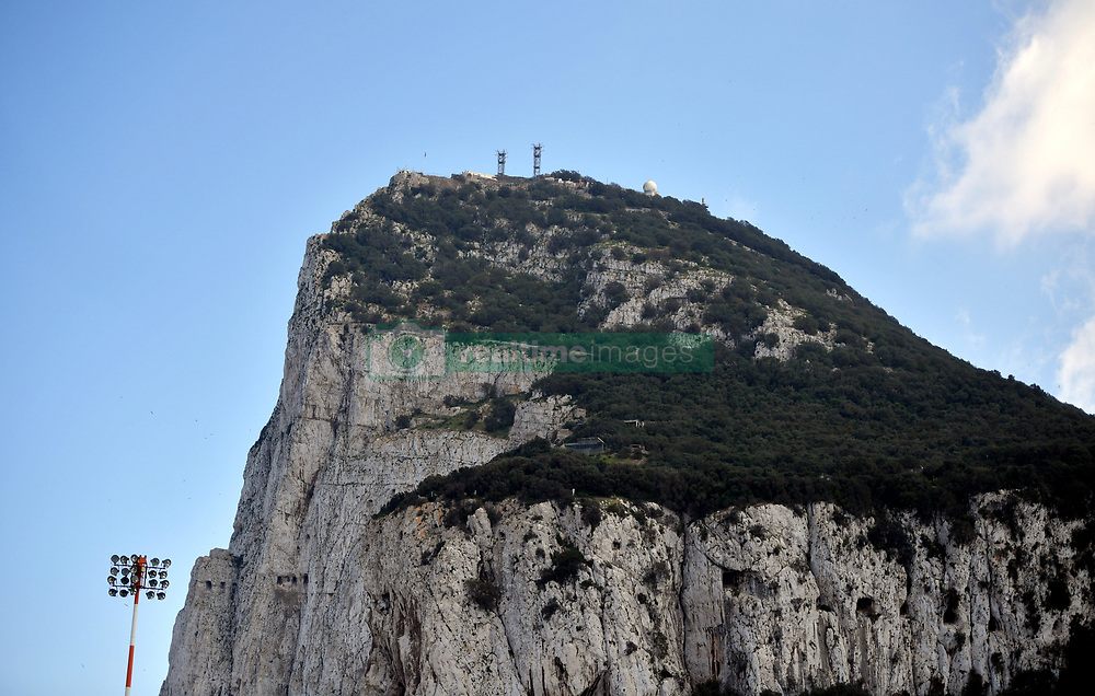 A general view of The Rock of Gibraltar prior to the UEFA Euro 2020 Qualifying, Group D match at the Victoria Stadium, Gibraltar.