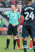 O. Landford (referee) during the EFL Sky Bet Championship match between Rotherham United and Blackburn Rovers at the AESSEAL New York Stadium, Rotherham, England on 11 February 2017. Photo by Mark P Doherty.