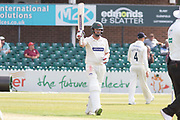 50 - Paul Horton acknowledges the crowd on reaching 50 during the Specsavers County Champ Div 2 match between Leicestershire County Cricket Club and Durham County Cricket Club at the Fischer County Ground, Grace Road, Leicester, United Kingdom on 7 July 2019.
