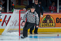 REGINA, SK - MAY 20: Ice official at the Brandt Centre on May 20, 2018 in Regina, Canada. (Photo by Marissa Baecker/CHL Images)