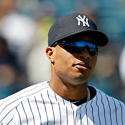 March 4, 2012; Tampa Bay, FL, USA; New York Yankees second baseman Robinson Cano (24) during spring training game against the Philadelphia Phillies at George M. Steinbrenner Field. Mandatory Credit: Derick E. Hingle-US PRESSWIRE