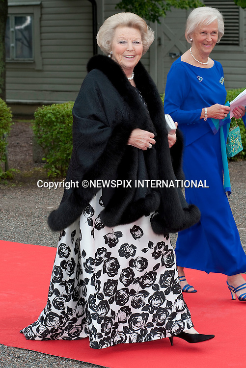 """QUEEN BEATRIX.Pre-Wedding Dinner hosted by the Government of Sweden in honour of H.R.H Crown Princess Victoria and Mr Daniel Westling at Eric Ericsonhallen was attended by Royalty from all over the world. Stockholm_18/06/2010..Mandatory Photo Credit: ©Dias/Newspix International..**ALL FEES PAYABLE TO: """"NEWSPIX INTERNATIONAL""""**..PHOTO CREDIT MANDATORY!!: NEWSPIX INTERNATIONAL(Failure to credit will incur a surcharge of 100% of reproduction fees)..IMMEDIATE CONFIRMATION OF USAGE REQUIRED:.Newspix International, 31 Chinnery Hill, Bishop's Stortford, ENGLAND CM23 3PS.Tel:+441279 324672  ; Fax: +441279656877.Mobile:  0777568 1153.e-mail: info@newspixinternational.co.uk"""