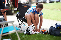 Lisa Brennauer (GER) prepares for Lotto Thuringen Ladies Tour 2018 - Stage 5, a 102.9 km road race starting and finishing in , Germany on June 1, 2018. Photo by Sean Robinson/velofocus.com