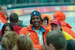 13-02-2006 SCHAATSEN: OLYMPISCHE WINTERSPELEN: 500 METER HEREN: TORINO<br /> 500 meter sprint man - Shani Davis<br /> ©2006-WWW.FOTOHOOGENDOORN.NL *** Local Caption ***