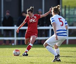 Georgia Evans of Bristol City Women - Mandatory by-line: Paul Knight/JMP - Mobile: 07966 386802 - 14/02/2016 -  FOOTBALL - Stoke Gifford Stadium - Bristol, England -  Bristol Academy Women v QPR Ladies - FA Cup third round
