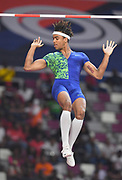 Bo Kanda Lita Baehre (GER) ties for seventh in the pole vault at 17-11 (5.46m)  during the IAAF Doha Diamond League 2019 at Khalifa International Stadium, Friday, May 3, 2019, in Doha, Qatar (Jiro Mochizuki/Image of Sport)