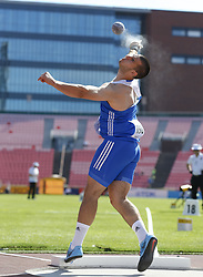 July 10, 2018 - Tampere, Suomi Finland - 180710 Friidrott, Junior-VM, Dag 1: Iason Machairas GRE competes in Shot put during the IAAF World U20 Championships day 1 at the Ratina stadion 10. July 2018 in Tampere, Finland. (Newspix24/Kalle Parkkinen) (Credit Image: © Kalle Parkkinen/Bildbyran via ZUMA Press)
