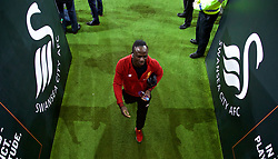 SWANSEA, WALES - Monday, January 22, 2018: Liverpool's Sadio Mane before the FA Premier League match between Swansea City FC and Liverpool FC at the Liberty Stadium. (Pic by David Rawcliffe/Propaganda)