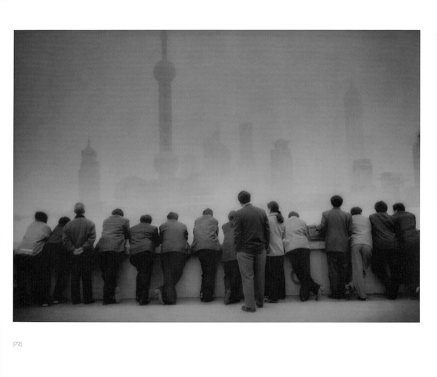 Pudong rises above the Bund, Shanghai, China.