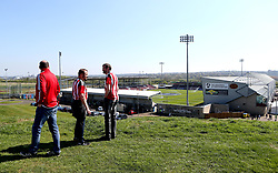 Sheffield United fans check out the view over Sixfields Stadium ahead of the Sky Bet League One fixture between their side and Northampton Town that could see Sheffield United Promoted - Mandatory by-line: Robbie Stephenson/JMP - 08/04/2017 - FOOTBALL - Sixfields Stadium - Northampton, England - Northampton Town v Sheffield United - Sky Bet League One