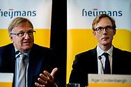 AMSTERDAM - CEO Ton Hillen van Heijmans N.V. tijdens de presentatie van de halfjaarcijfers 2017. ANP ROBIN UTRECHT