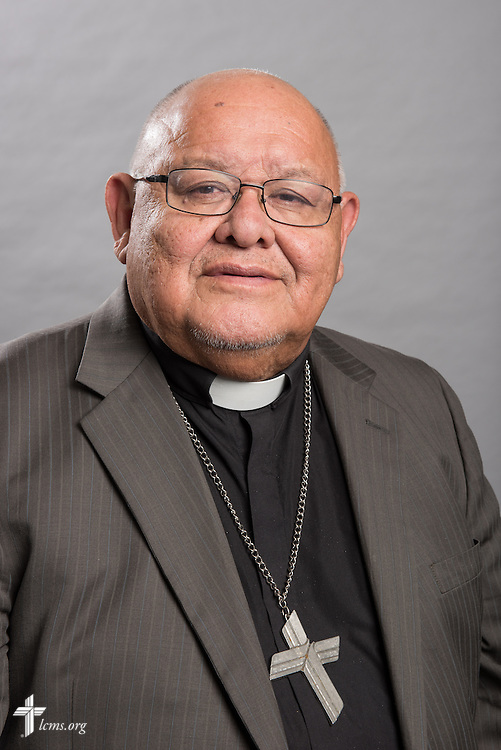 Headshot photograph of the Rev. Dr. Carlos Hernandez, director of LCMS Church and Community Engagement, in the International Center studio of The Lutheran Church–Missouri Synod on Thursday, Dec. 11, 2014, in Kirkwood, Mo. LCMS Communications/Erik M. Lunsford
