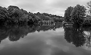 "Maidenhead, United Kingdom.  ""General View across the River at Raymead Island Weir"", Cookham Reach, River Thames between Boulters Lock and Lower Cookham, view from the riverside path, <br /> <br /> Friday  22/05/2015<br /> <br /> © Peter SPURRIER<br /> Panasonic  DMC-LX100  f7.1  1/250sec  24mm  3.9MB"