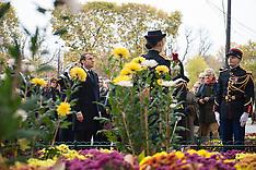 Armistice Day commemorations - 11 Nov 2017