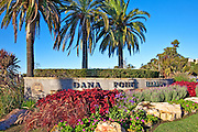 Vintage Stock Photo of Dana Point Harbor Monument
