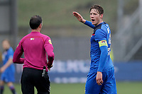 (L-R) referee *Bas Nijhuis*, *Wout Weghorst* of AZ Alkmaar