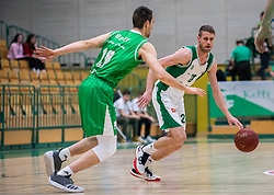 24# Luka Lapornik of KK Krka Novo mesto during the basketball match of Nova KBM League between KK Petrol Olimpija Ljubljana and KK Krka Novo mesto, on February 27, 2019, in Novo mesto, Slovenia. Photo by Urban Meglic / Sportida