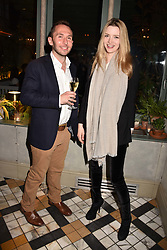 Talulah Riley and Oliver ? at The Ivy Chelsea Garden's Annual Summer Garden Party, The Ivy Chelsea Garden, 197 King's Road, London England. 9 May 2017.<br /> Photo by Dominic O'Neill/SilverHub 0203 174 1069 sales@silverhubmedia.com