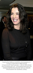 Food writer NIGELLA LAWSON, at a reception in London on 5th March 2002.		OXY 82