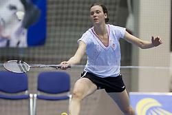 Simone Prutsch of Austria during match at Slovenia Open Badminton tournament 2012, on May 12, 2012, in Medvode, Slovenia. (Photo by Grega Valancic / Sportida.com)