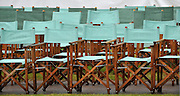 Henley, GREAT BRITAIN, Rain stops play, as a halt is  called in the afternoon programme, because of the weather conditions, the seats beside the river remain empty, 2008 Henley Royal Regatta, on  Sunday, 06/07/2008,  Henley on Thames. ENGLAND. [Mandatory Credit:  Peter SPURRIER / Intersport Images] Rowing Courses, Henley Reach, Henley, ENGLAND . HRR