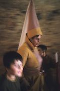 SPAIN /  Extremadura / Badajoz / Alburquerque.  Medieval recreations in Spain. The village celebrates every August Medieval journeys. Woman and children with medieval dresses.....