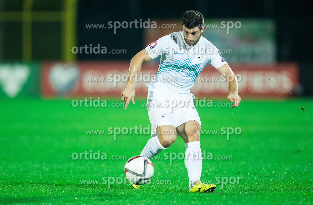 Bojan Jokic of Slovenia during football match between National teams of San Marino and Slovenia in Group E of EURO 2016 Qualifications, on October 12, 2015 in Stadio Olimpico Serravalle, Republic of San Marino. Photo by Vid Ponikvar / Sportida