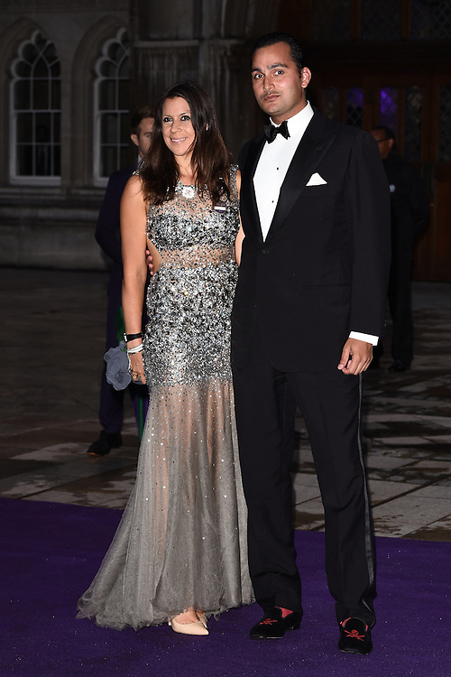 Marion Bartoli and Jonathan Katz attend the 2015  Wimbledon Champions Dinner at The Guildhall, Gresham Street, London on Sunday 12 July 2015