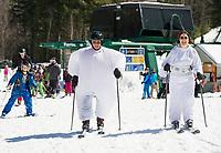 Gunstock Mountain's pond skim event.  Karen Bobotas for the Laconia Daily Sun