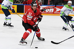06.05.2017, AccorHotels Arena, Paris, FRA, IIHF WM 2017, Schweiz vs Slowenien, Gruppe B, im Bild Denis Malgin (SUI) // during the group B match of 2017 IIHF World Championship between Switzerland and Slovenia at the AccorHotels Arena in Paris, France on 2017/05/06. EXPA Pictures &copy; 2017, PhotoCredit: EXPA/ Freshfocus/ Urs Lindt<br /> <br /> *****ATTENTION - for AUT, SLO, CRO, SRB, BIH, MAZ, ITA only*****