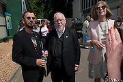 RINGO STAR; SIR PETER BLAKE; LADY BLAKE, PRESS PREVIEW. The RHS Chelsea Flower Show 2011. The Royal Hospital grounds. Chelsea. London. 23 May 2011. <br /> <br />  , -DO NOT ARCHIVE-© Copyright Photograph by Dafydd Jones. 248 Clapham Rd. London SW9 0PZ. Tel 0207 820 0771. www.dafjones.com.