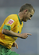 Sheffield - Saturday, November 29th, 2008: Sammy Clingan of Norwich City celebrates scoring the first penalty goal against Sheffield Wednesday during the Coca Cola Championship match at Hillsborough, Sheffield. (Pic by Michael Sedgwick/Focus Images)