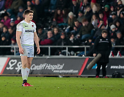 Saracens' Owen Farrell<br /> <br /> Photographer Simon King/Replay Images<br /> <br /> European Rugby Champions Cup Round 5 - Ospreys v Saracens - Saturday 13th January 2018 - Liberty Stadium - Swansea<br /> <br /> World Copyright © Replay Images . All rights reserved. info@replayimages.co.uk - http://replayimages.co.uk