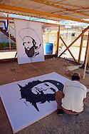 Image of Ernesto Che Guevara in San Antonio de los Banos, Artemisa, Cuba.