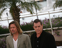Brad Pitt and Ray Liotta at the Killing Them Softly photocall at the 65th Cannes Film Festival France. Tuesday 22nd May 2012 in Cannes Film Festival, France.
