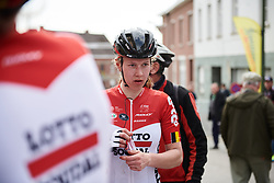 Demi de Jong (NED) recovers after Brabantse Pijl 2018, a 136.8 km road race starting and finishing in Gooik on April 11, 2018. Photo by Sean Robinson/Velofocus.com