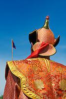 Mongolie, province de Arkhangai, Tsetserleg, participant en costume a la fete du Naadam // Mongolia, Arkhangai province, participant take part at the Naadam festival